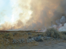 Courtesy photo The controlled burn south of Alamo took out about 240 acres of potential problem areas.