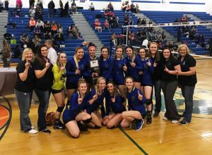 Courtesy photo After losing in the title game last year, the Pahranagat Valley volleyball team took back its crown over the weekend, defeating Owyhee 3-0 to win the state championship. It's the Lady Panthers 13th state title since 2000.